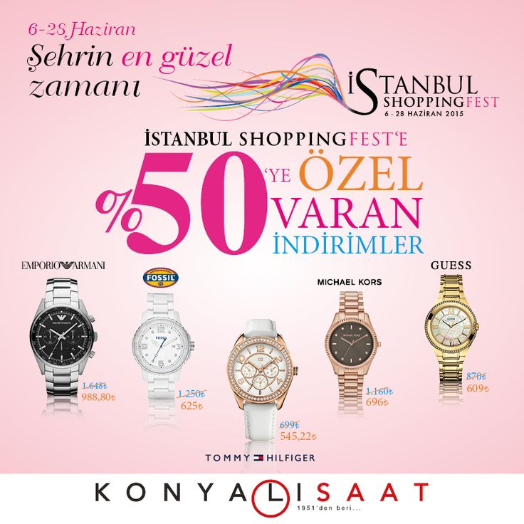İstanbul Shopping Fest'e özel %50'ye varan indirimler #MaltepePark Konyalı Saat'te sizleri bekliyor!