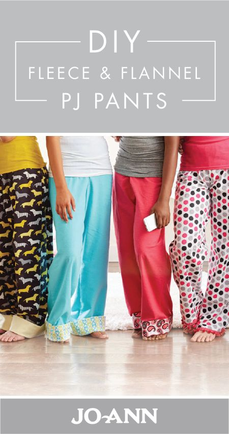 This craft project for DIY Fleece and Flannel PJ Pants is a great activity for winter. Whether you choose to make them for your family or friends, everyone will love how cozy this homemade loungewear is!