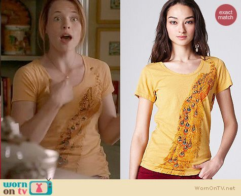 Switched at Birth Fashion: Lucky Brand Eliza Peacock tee worn by Katie Leclerc