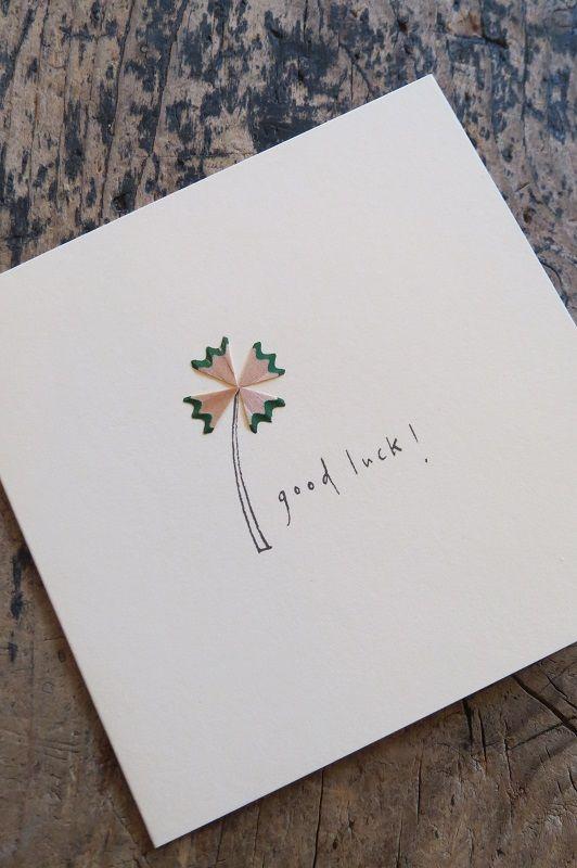 Pencil shavings #goodluck #clover #card #paper #st…