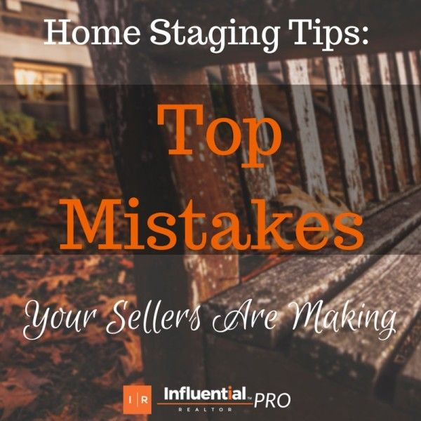 Home Staging Tips: Top Mistakes Your #Sellers Are Making. Influential Realtor's latest post.  http://influentialrealtor.com/2015/07/home-staging-tips-top-mistakes-your-sellers-are-making/    #realestate #home #staging #realtor #tips