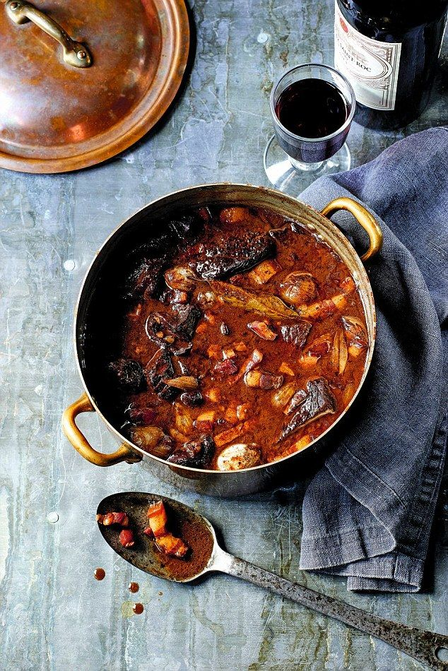 Boeuf Bourguignon - get recipe here: http://www.dailymail.co.uk/femail/article-4163378/James-Martin-s-French-masterclass-Boeuf-bourguignon.html
