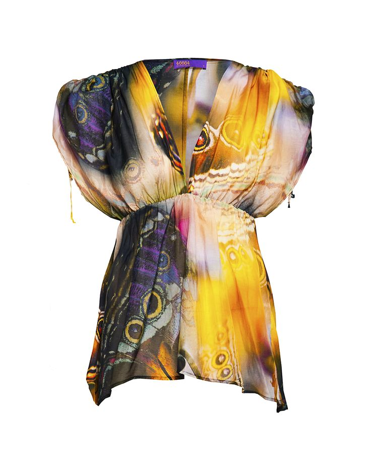 Butterfly print kaftan, available at Stuttafords stores, South Africa