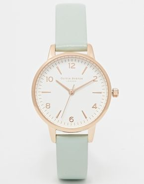 Olivia Burton Exclusive To ASOS Midi White Face Mint Watch - £75