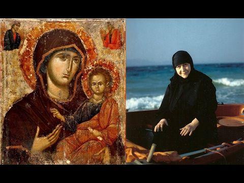 Παναγία Ιεροσολυμίτισσα : Γερόντισσα Μακρίνα: Έβλεπε από την εικόνα της Πανα...
