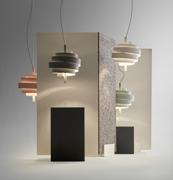 Pendant Lamp Contemporary Metal PIOLA By Christophe Mathieu Marset Iluminacion