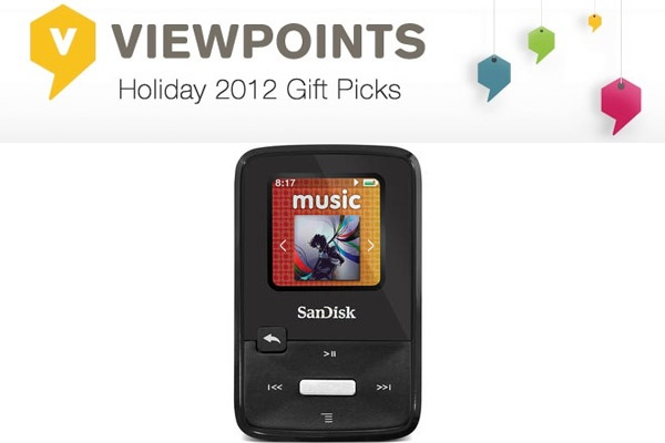 The newest MP3 player from SanDisk is lightweight, small & perfect to take on-the-go.
