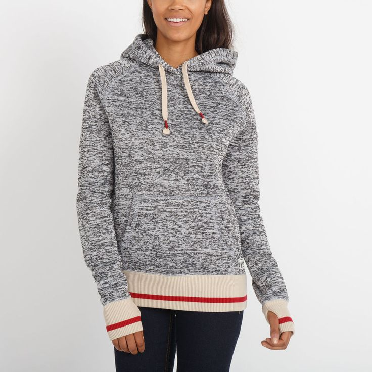 Womens Angie Roots Cabin Hoody blizzard colour mix | Roots $88