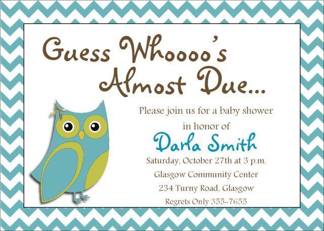 online baby shower invitation