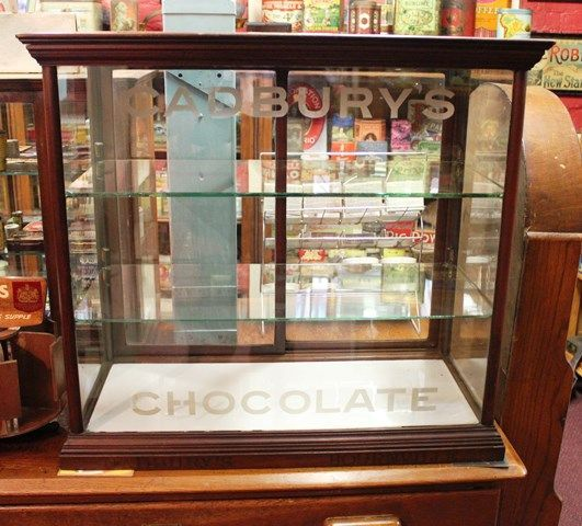 Display Kitchen Cabinets For Sale: Cadbury Chocolates Display Cabinet With Etched Glass