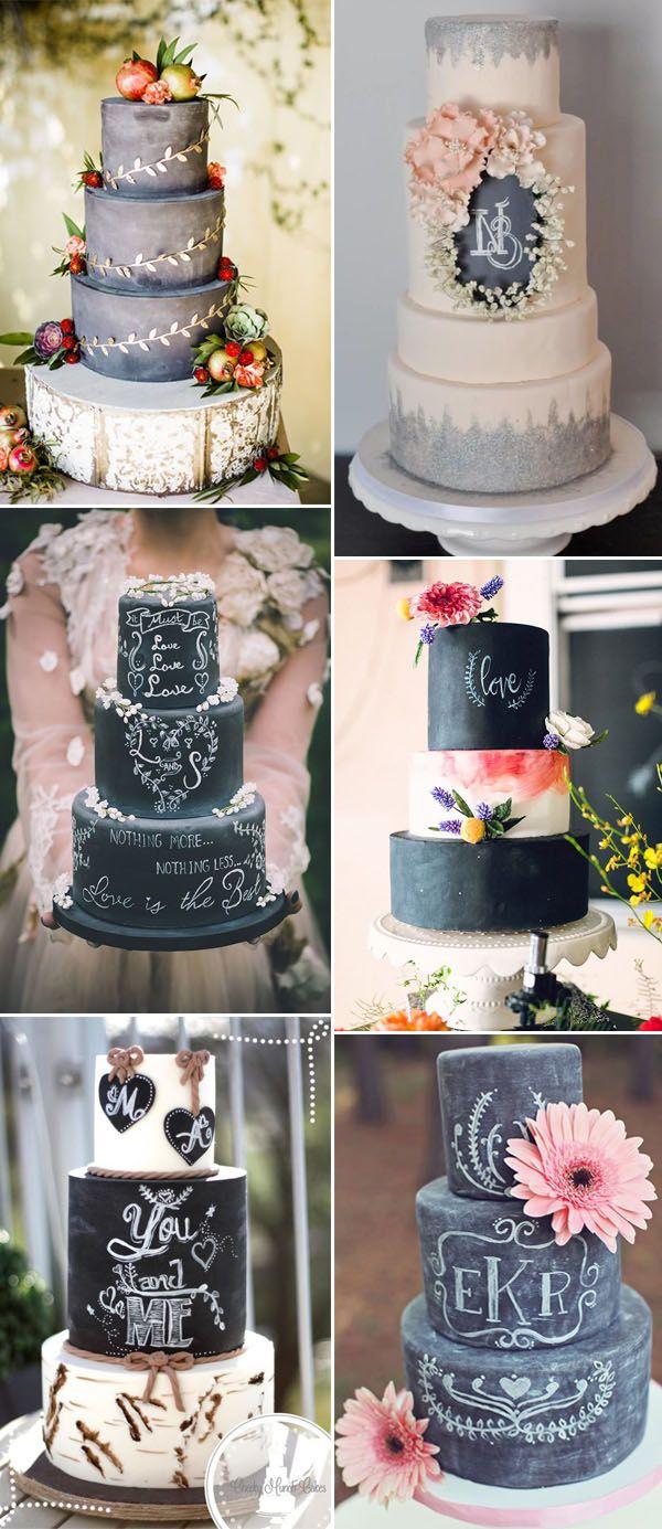chalkboard wedding cakes ideas