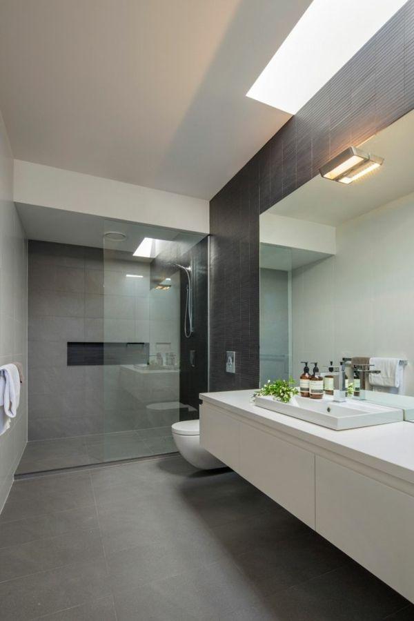 badezimmer in betonoptik minimalistisch gestaltet