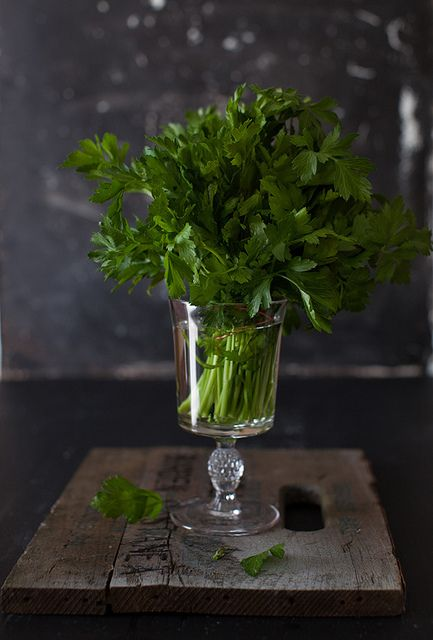 Parsley - best way to store in fridge is stems in water (refresh weekly) - I just used the last of my fresh garden parsley stored this way - 3 months after harvesting