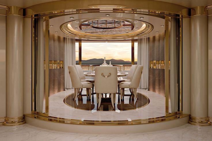 Numero Tre Collection www.turri.it Italian design dining room - Yacht furniture