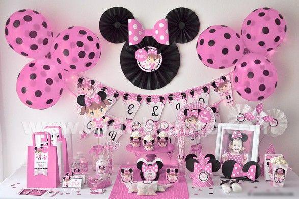 Decoracion Para Baby Shower De Minnie Mouse   Nos pasamos al mundo de Disney, un…
