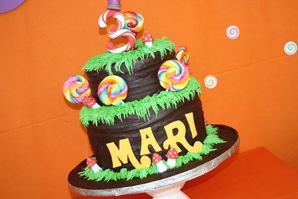 Willy Wonka Birthday Cake #willywonkaparty