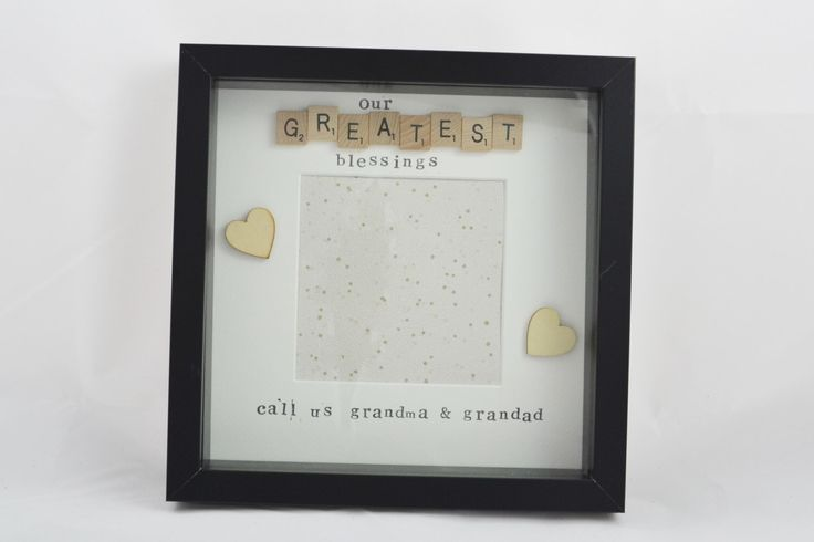 A personal favourite from my Etsy shop https://www.etsy.com/uk/listing/473061812/personalised-grandma-and-grandad