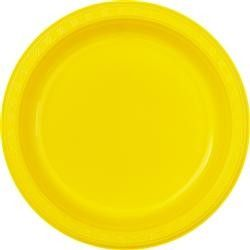 Gold Plastic Plates 23Cm (Pack of 8) - Plates - Tableware - Party | Go Party Supplies