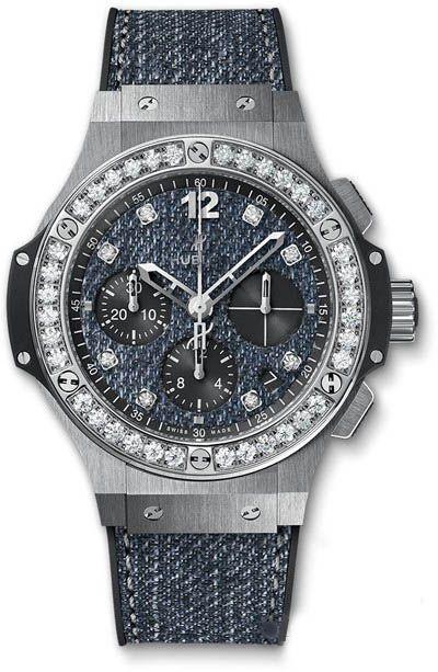 Hublot 341.SX.2770.NR.1204.JEANS Big Bang 41mm Jeans Steel Diamonds. #Hublot