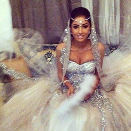 Bling mermaid wedding dress