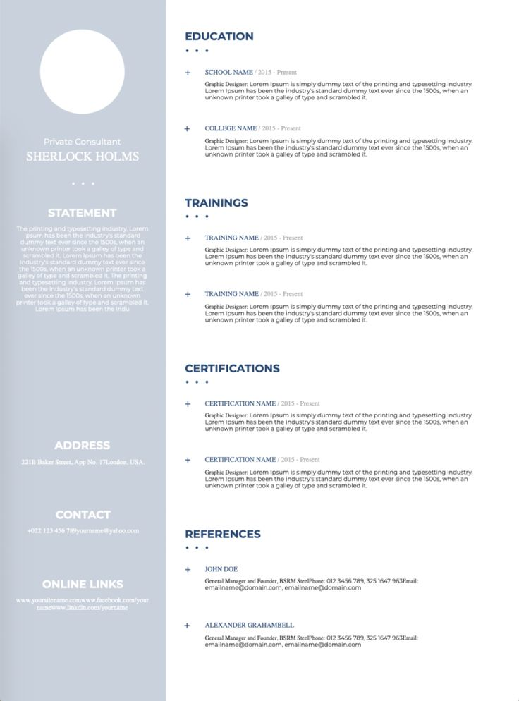 This CV is created in Microsoft Word and is very simple to