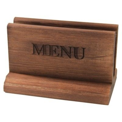 Our NEW Dark Oak Wooden Menu Holder!