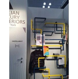 LABYRINTH Self-supporting or fixed to the wall library in steel cm. 120x30x240h @ ICFF NewYork