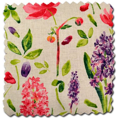 Arthur Sanderson Spring Flowers fabric, loving the bright print.