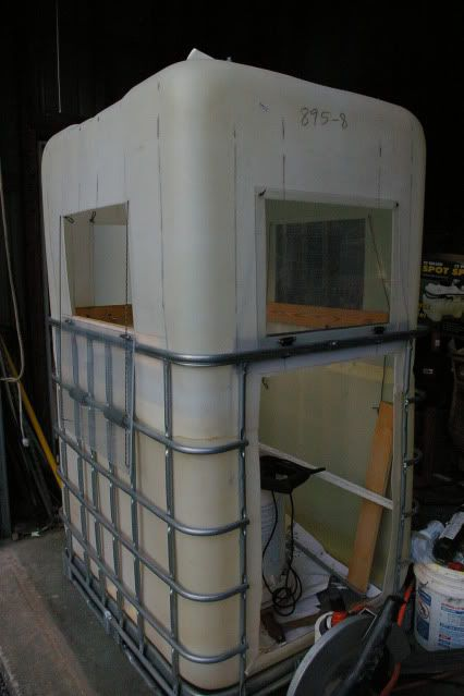Deer blind from totes qdma forums deer hunting for Inside deer blind ideas
