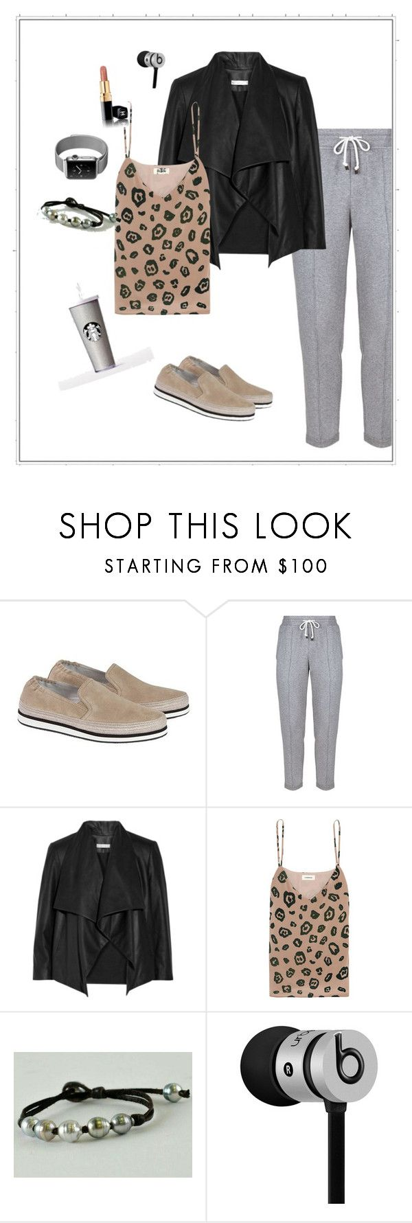 """""""Take it easy, like sunday morning"""" by olivia-stones ❤ liked on Polyvore featuring Prada Sport, Brunello Cucinelli, Alice + Olivia, L'Agence, Beats by Dr. Dre, finepearls and authentico"""