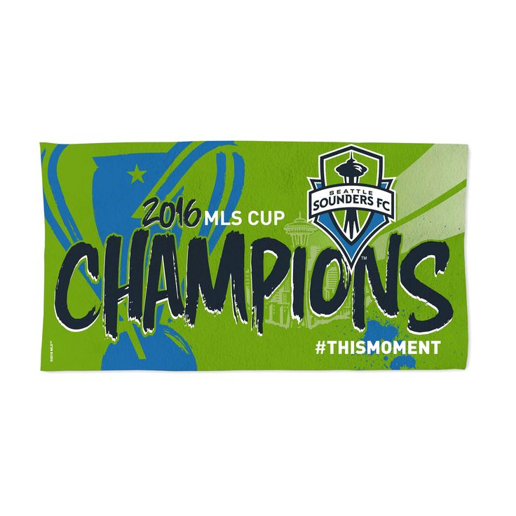 "Seattle Sounders FC WinCraft 2016 MLS Cup Champions 22"" x 42"" Official On-Pitch Locker Room Towel - $15.99"