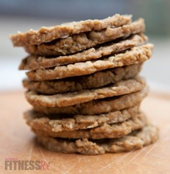 YUM!! Low fat, low calorie home made oatcakes, good for a cracker (even a sandwich!) or try adding cinnamon raisins and stevia for a sweet treat! Ingredients 1 cup oats, crushed 1/2 cup coconut flour 1/2 cup oat bran 1 tsp. baking powder 1/2 tsp. sea salt 1/2 c. no-sugar-added applesauce 1 egg white 1 TB coconut oil, softened 1/4-1/2 cup unsweetened almond milk