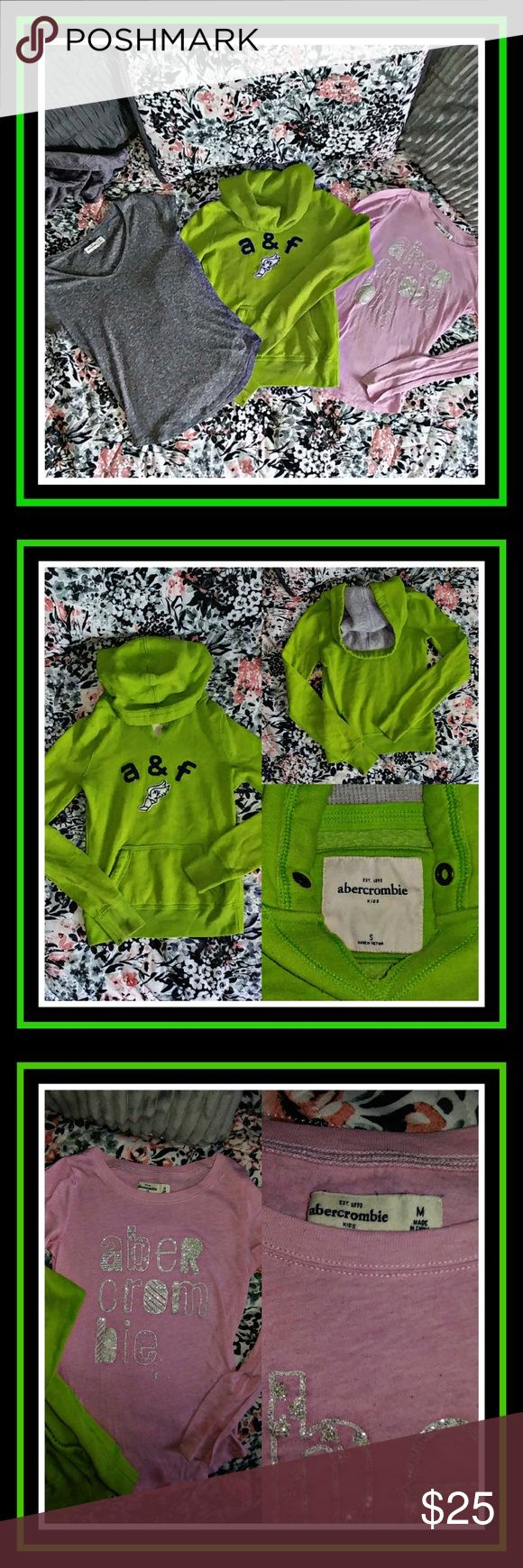 🌈 PRELOVED! GIRL'S ABERCROMBIE KID LOT - SIZE S/M PRELOVED & GENTLY USED BUT NO RIPS STAINS OR TEARS! FITS GIRLS 14/16 YOUTH.  💲 BUNDLE & SAVE! IF BUNDLE EXCEEDS THE 5LB WEIGHT LIMIT ADDITIONAL SHIPPING IS REQUIRED TO BE PAID FOR BY BUYER 💲  ⚓ NO TRADES ⚓ NO LOW BALL OFFERS ⚓ I DO NOT MODEL MY LISTINGS ⚓ NO OFF POSH TRANSACTIONS  📬 I USUALLY SHIP IN 24 HRS EXCEPT WEEKENDS & HOLIDAYS SHIP THE NEXT BUSINESS DAY!   THANKS FOR LOOKING! ⚓AM7X70 Abercombie Kids Shirts & Tops