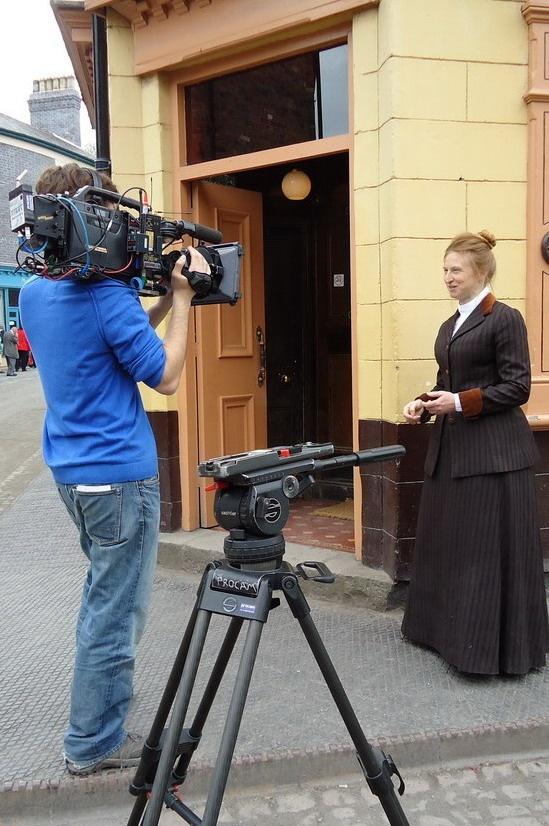 Ruth Goodman filming _Victorian Pharmacy_