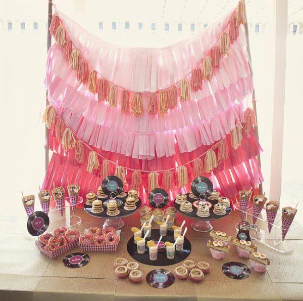 50's Retro Party: Birthday Parties, Baby Shower Ideas, Retro Parties, 50S Retro, 50S Theme Parties, Desserts Tables Retro Theme, Parties Ideas, Parties Theme, Parties Decor