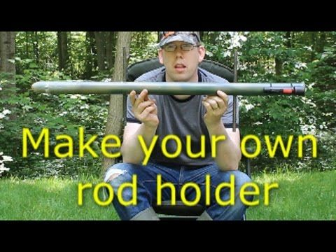 Bank fishing rod holder with flashlight - see your rod at night! - YouTube
