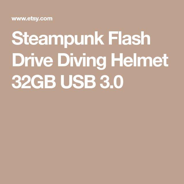 Steampunk Flash Drive Diving Helmet 32GB USB 3.0