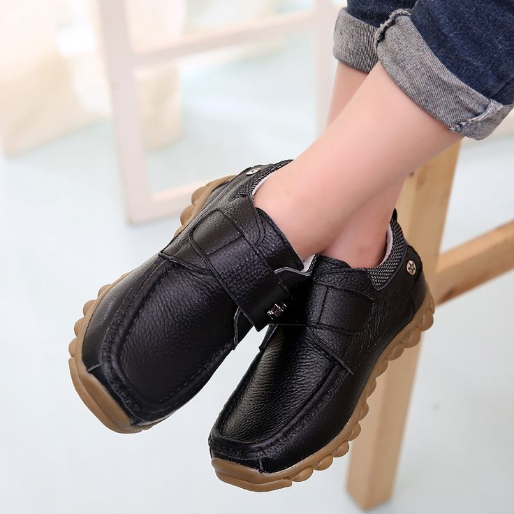 Cool Free shipping 1pair Genuine Leather Shoes Children Sneakers Sports Cheap Boy shoes,breathable kid shoes - $41.38 - Buy it Now!