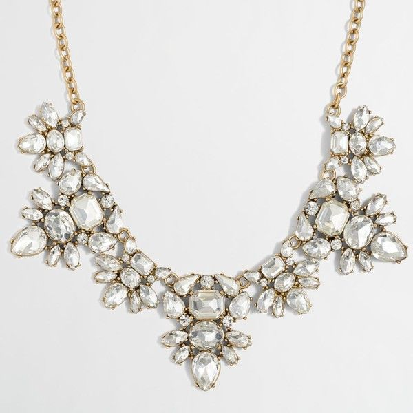 J.Crew Factory double gemstone clusters necklace (£22) ❤ liked on Polyvore featuring jewelry, necklaces, gemstone jewelry, gem jewelry, adjustable necklace, cluster necklace and gem necklace