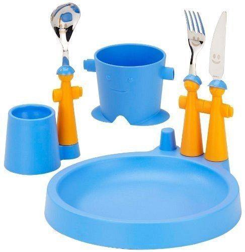 Rivadossi Puppet Club, Set tazza, piatto, portauovo e posate per bambini NOVE