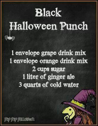 Black Halloween Punch