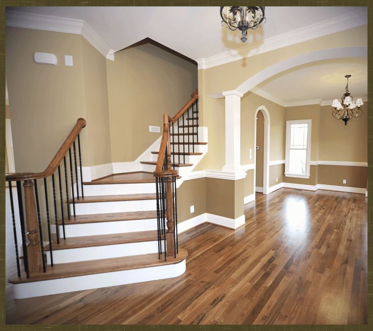 Stained red oak floor & stairs Classical Wood Floors Coastal Maine ...