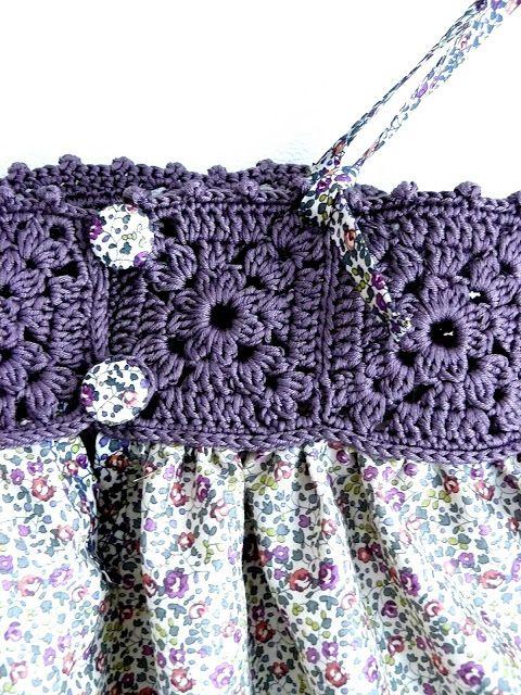 crochet trip on dress