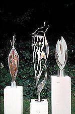 "Sculpture Trio by Molly Mason (Metal Sculptures) (60"" x 20"")"