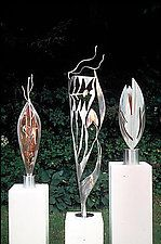"Sculpture Trio by Molly Mason (Metal Sculptures) (60"" x 20"")"