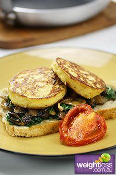 Cheesy Ricotta Pancakes. #HealthyRecipes #DietRecipes #WeightLossRecipes weightloss.com.au