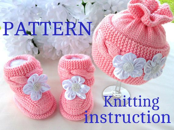 P A T T E R N Baby Hat Knitting Baby Set Baby Shoes by Solnishko43