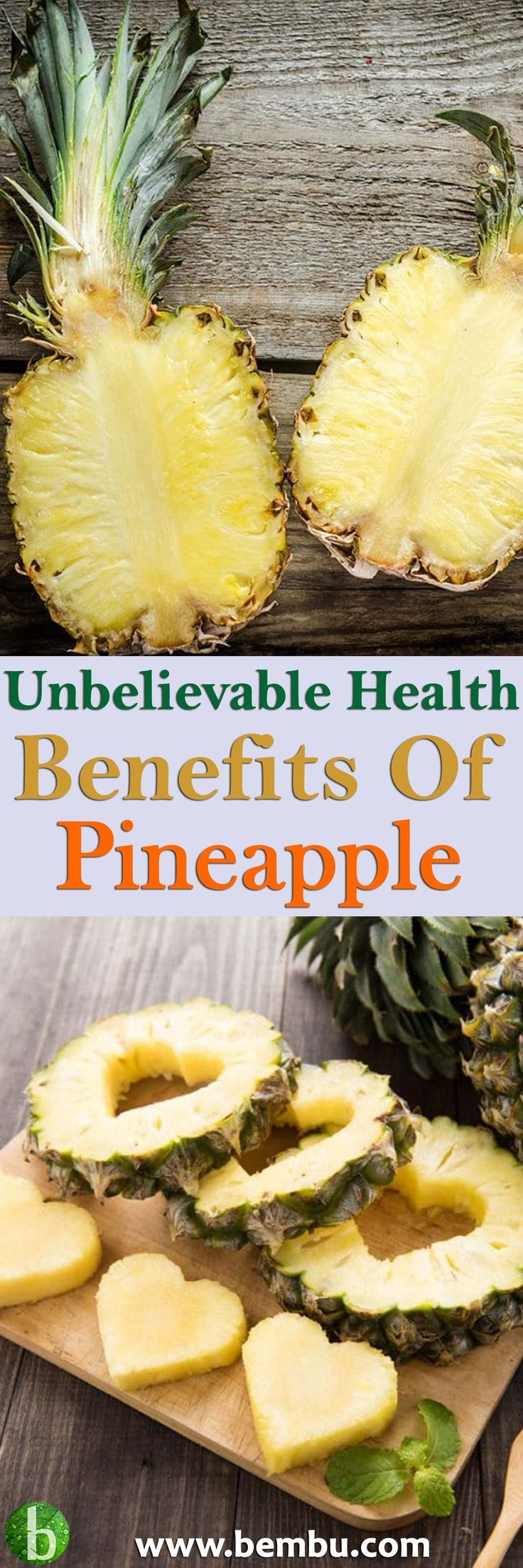 Discover the impressive, proven health benefits of the pineapple. And get a taste of the tropics with recipes that have passed the scrumptious test. Health Tips │ Health Ideas │Healthy Food │Health │Food │Drinks │Healthy Oil │Healing │Natural Remedies #Health #Ideas #Tips #Healthyfood #Food #Vitamin #Healing #Drinks #Remedies #Healthyoil