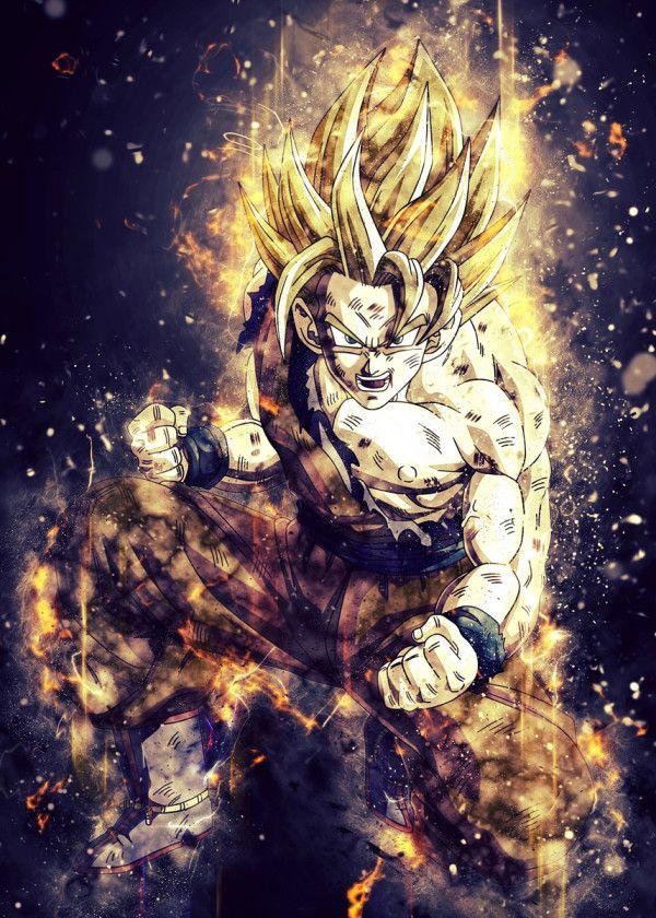 Goku Super Saiyan Poster By Trần Văn Dũng Displate Anime Dragon Ball Super Dragon Ball Dragon Ball Super Wallpapers