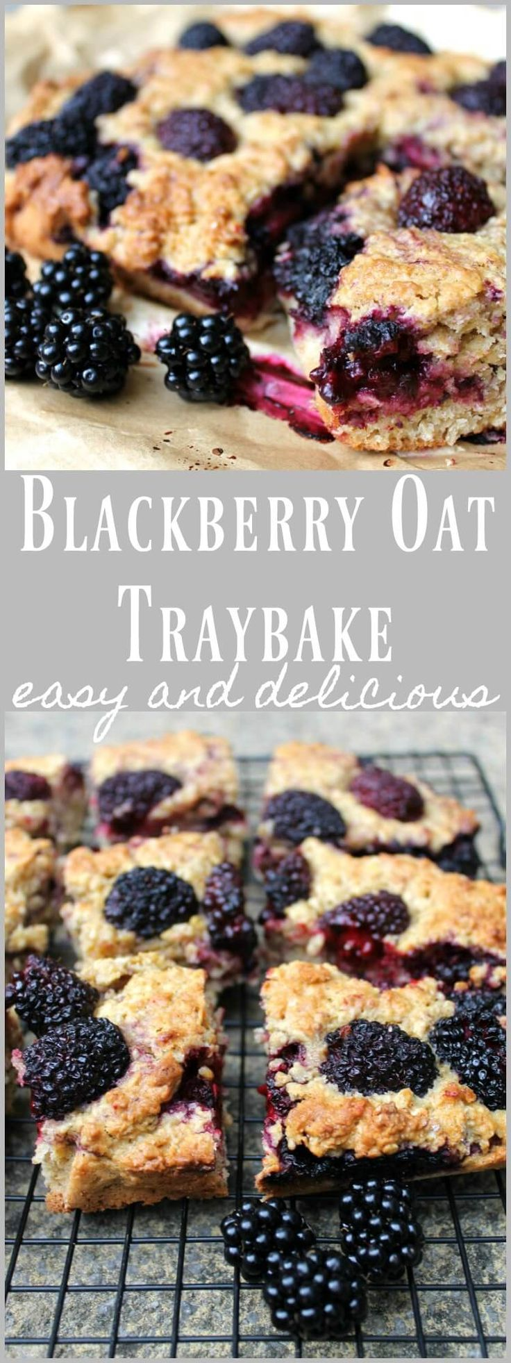 Blackberry oaty traybake cake - Thinking about having this for a special breakfast bake!